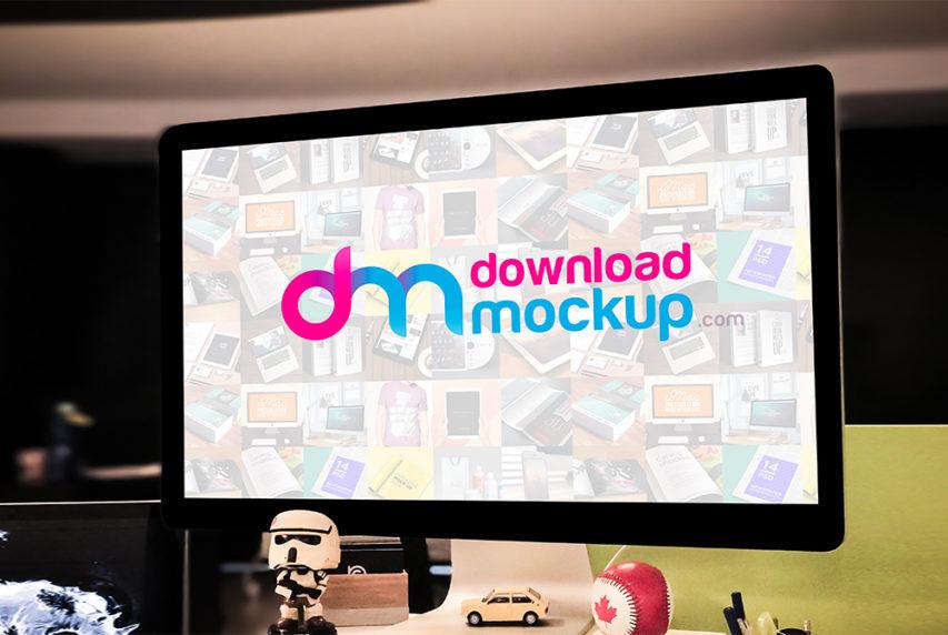 Apple Cinema Display Mockup Free Psd Download Mockup