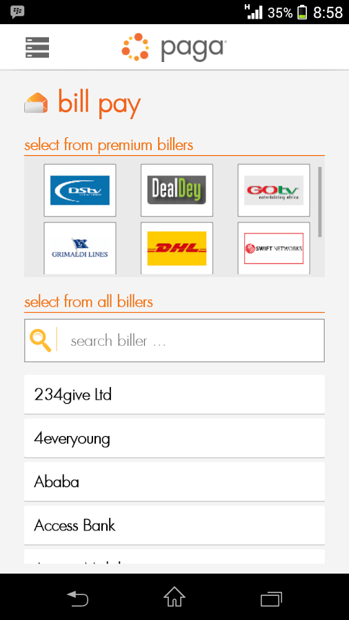 Download Paga Nigeria Mobile App