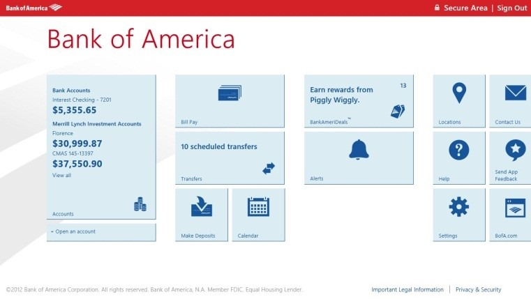Download Bank of America App For Android iPhone iPad Windows