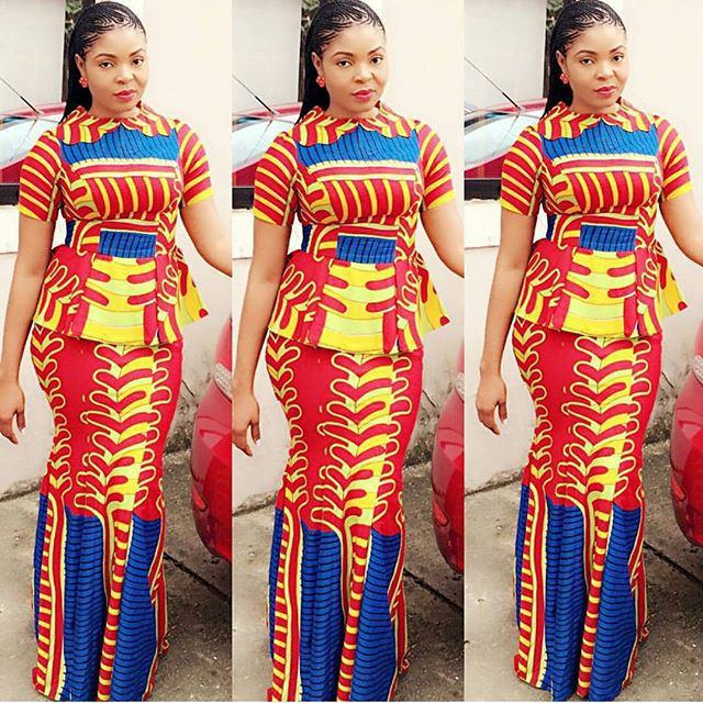 Download Latest Ankara Skirt And Blouse Style