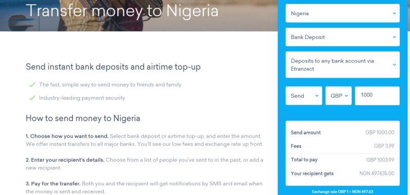 Cheapest Way to Transfer Money to Nigeria From Abroad
