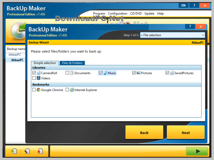 BackUp Maker Professional Serial Key Free Download
