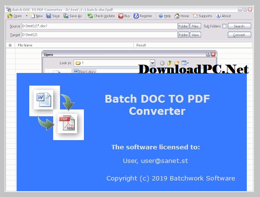 Batch DOC to PDF Converter Free Download