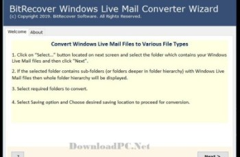 BitRecover Windows Live Mail Converter Wizard 7.1 Crack Download