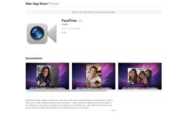 Facetime for Mac using iTunes