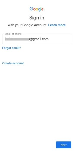 Enter Email-How to Sign in Google Play Store