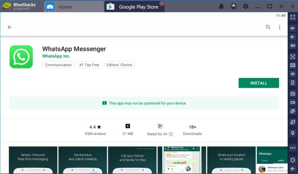 Install Play Store app on PC