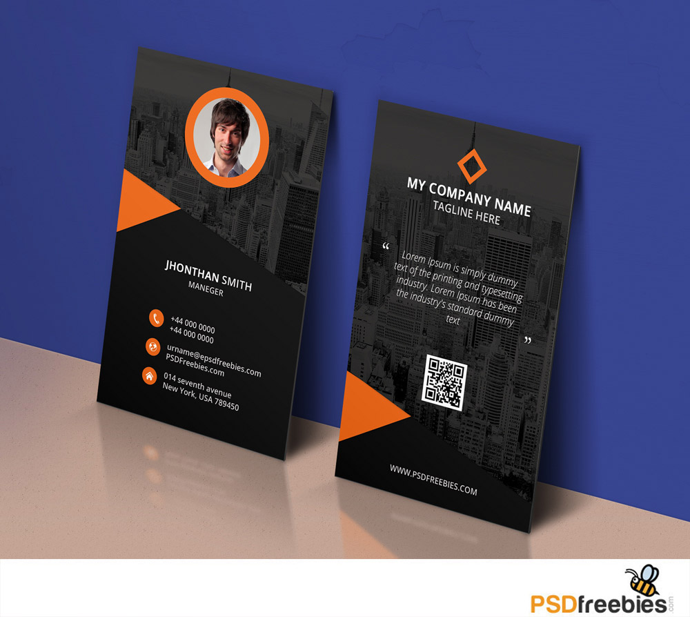 Modern Corporate Business Card Template PSD   Download PSD Modern Corporate Business Card Template PSD