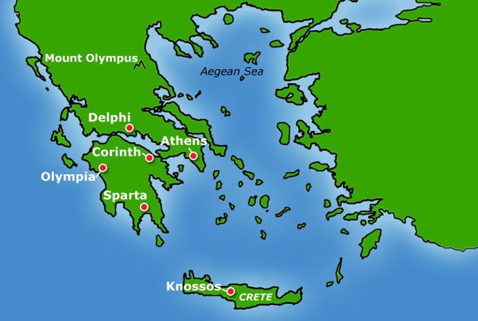 Resultado de imagen de ancient greece map