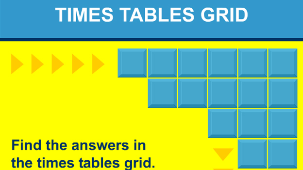 Click to play 'Times tables grid game'