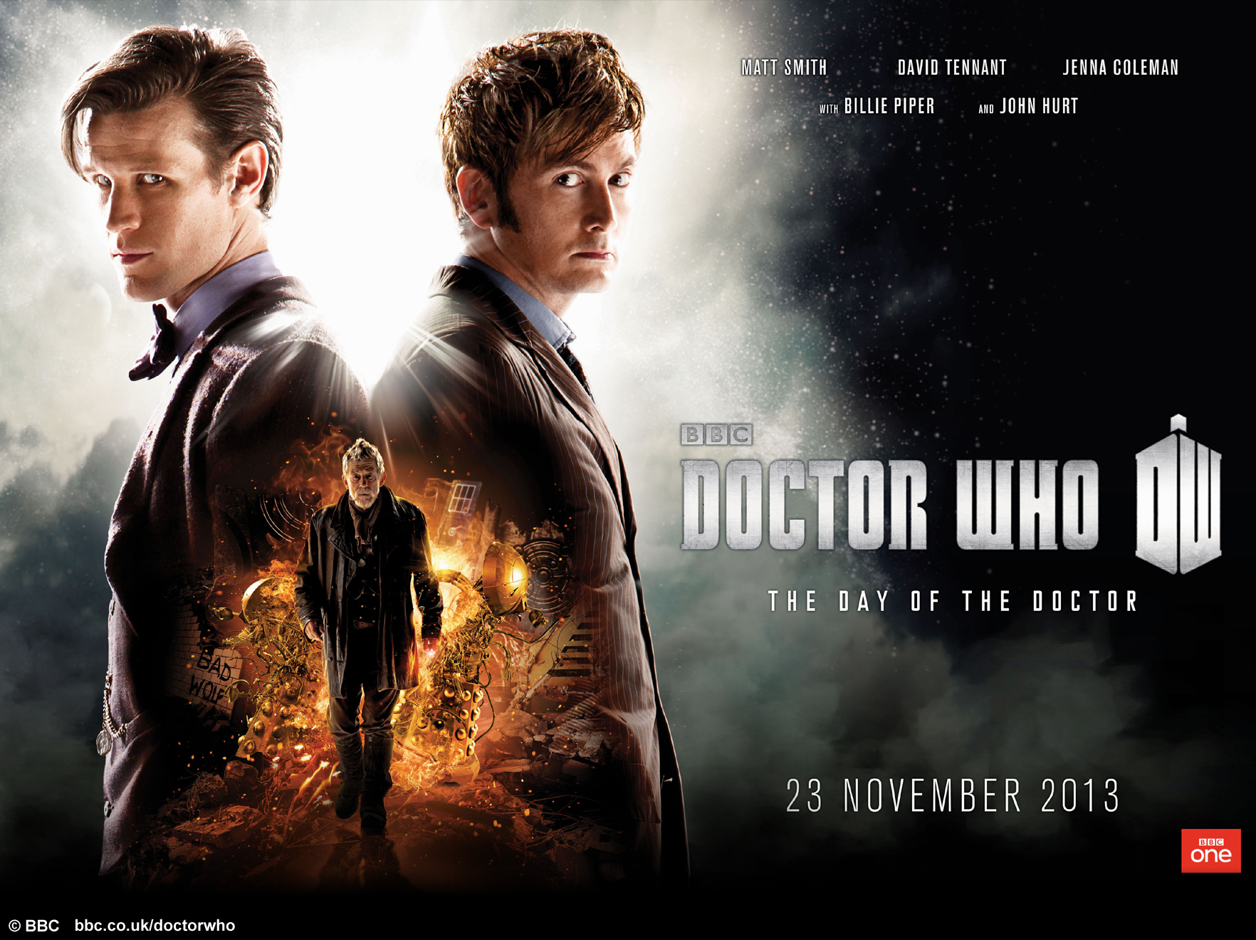"Official ""The Day of the Doctor"" promotional image (BBC/Doctor Who)"