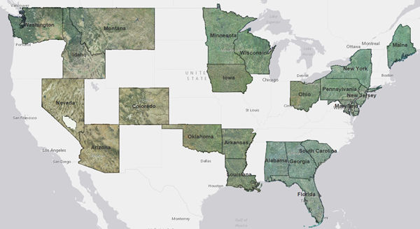 NAIP 2013 Imagery Added for 23 States