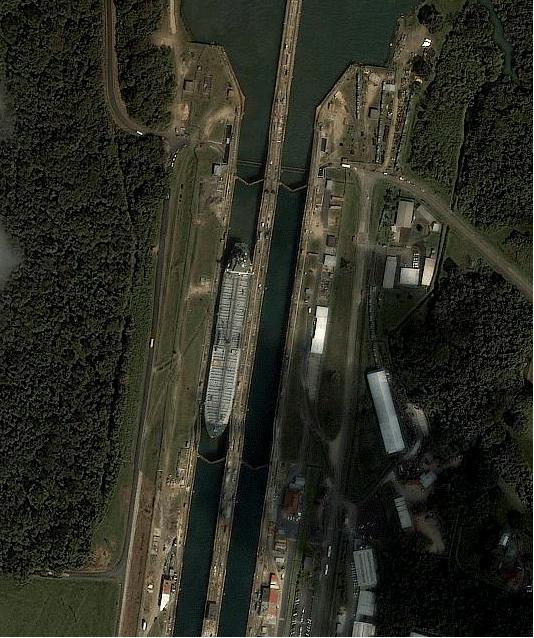 1m IKONOS citra untuk Terusan Panama