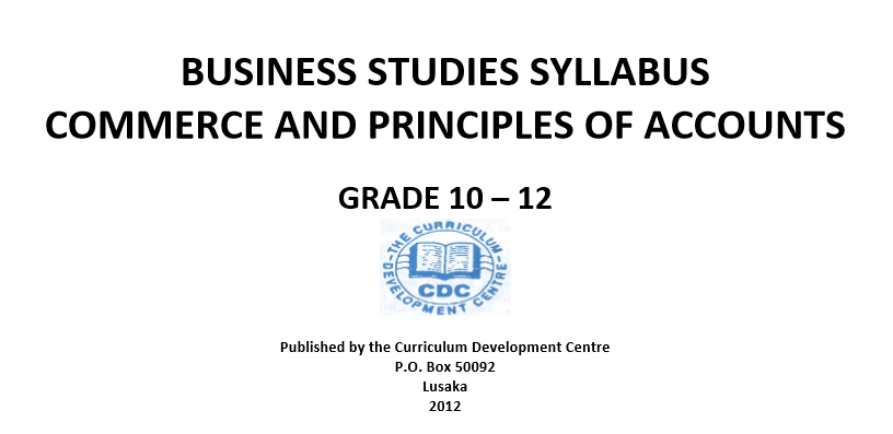 BUSINESS STUDIES SYLLABUS COMMERCE AND PRINCIPLES OF