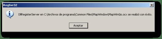 Registro del componente MapWinGis.ocx