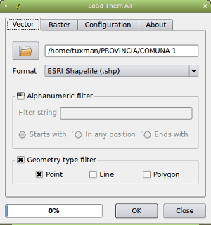 Geometry type filter