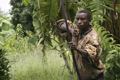 Musigati Hunter with Bow and Arrow in Burundi