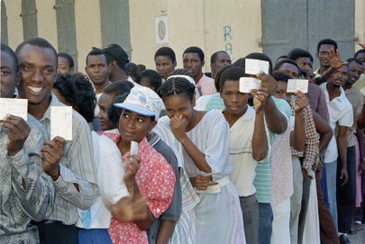 With International Support, Haitians go to the Polls