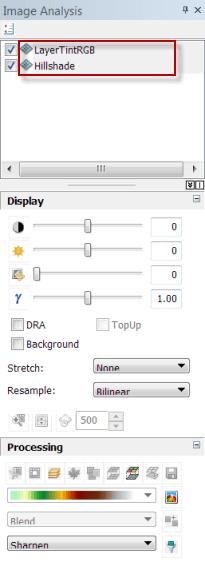 Overlaying rasters - Image Analysis Window