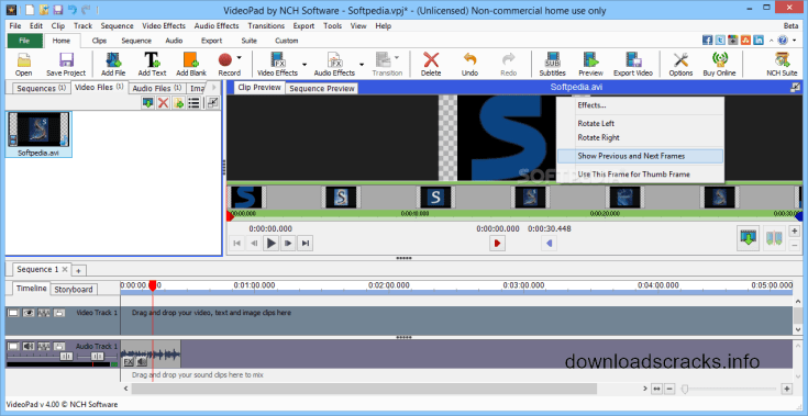 videopad video editor free license key