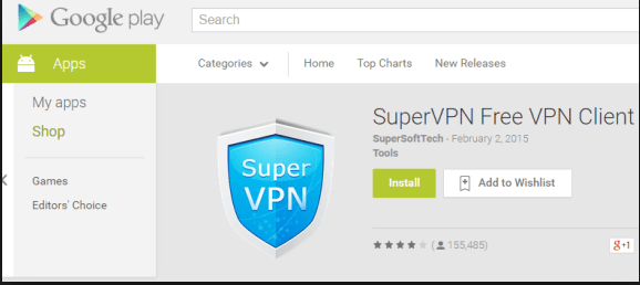 Download SuperVPN for Window 8