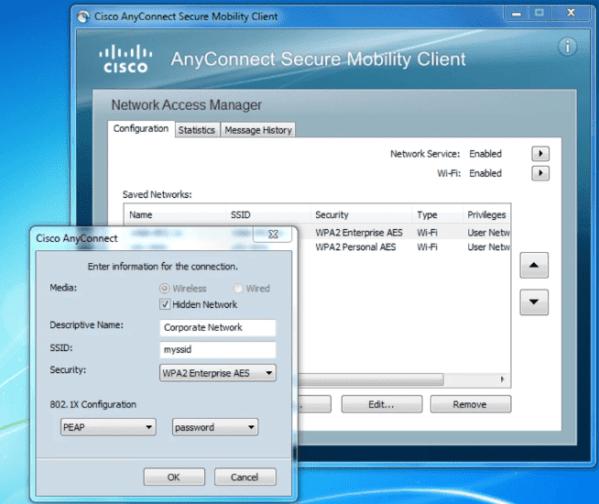 Download Cisco AnyConnectVPN client