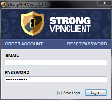 Strong VPN login