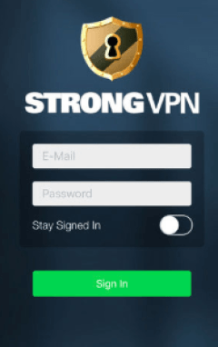 Strong VPN on iPhone
