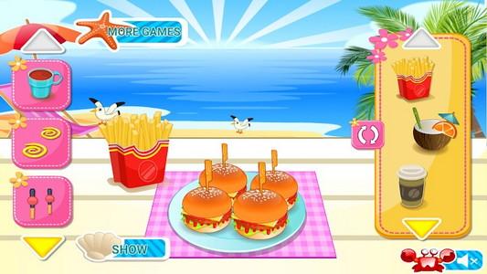 mini burgers jeux de cuisine android