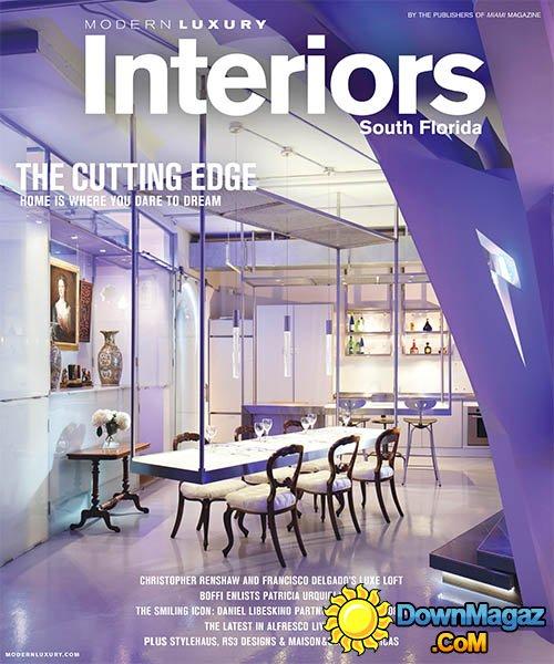 Modern Luxury Interiors South Florida SpringSummer 2015