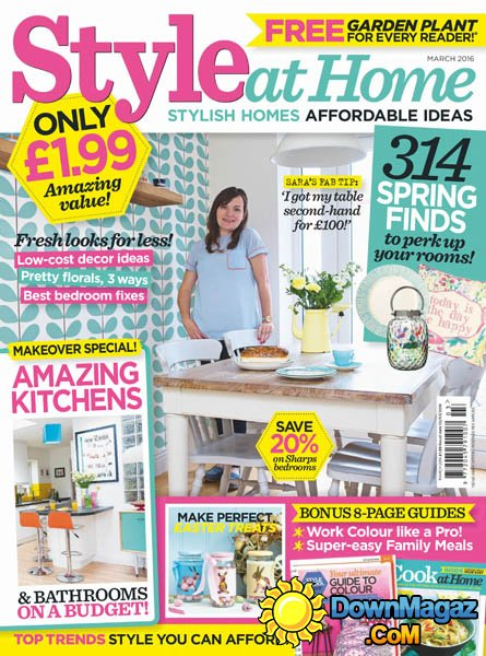 Style At Home UK March 2016 Download PDF Magazines