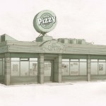 Pizzy Shop Drawing Sketch (Sunset Overdrive Concept Art)