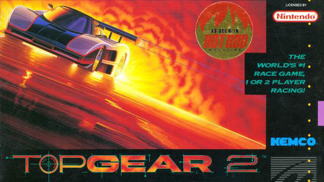 Top Gear 2 (SNES) Boxart Cropped