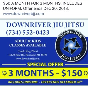 Downriver Jiu Jitsu promotion