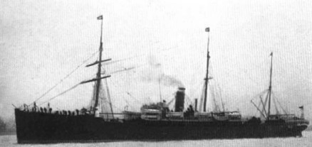 The SS Cephalonia that brought Anna to America in 1885