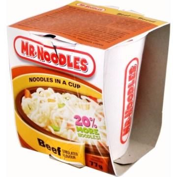 Mr noodle in Cup Beef