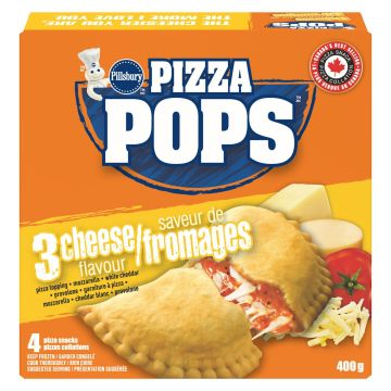 Pops Pizza Three Cheese 1 Box of 4 Frozen Pops Pizza