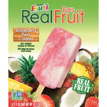 Real Fruit Bars Strawberry Ice Cream