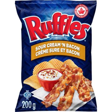 Ruffle Sour Cream And Bacon Chips