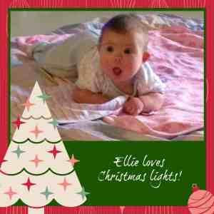 Ellie loves Christmas lights 3