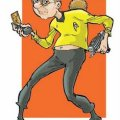 John Freeman as Captain Kirk. Art by Nick Miller