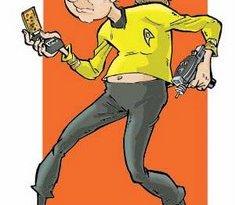John Freeman as Captain Kirk. Art by Nick Miller