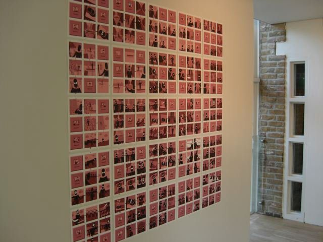 Hypercomics Installation: the first complete Wall Comic by Daniel Merlin Goodbrey, 'Dream'. Photo: Paul Gravett