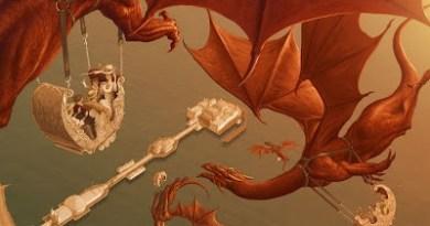 Dragon Rides – art for Mirabilis by Leo Hartas