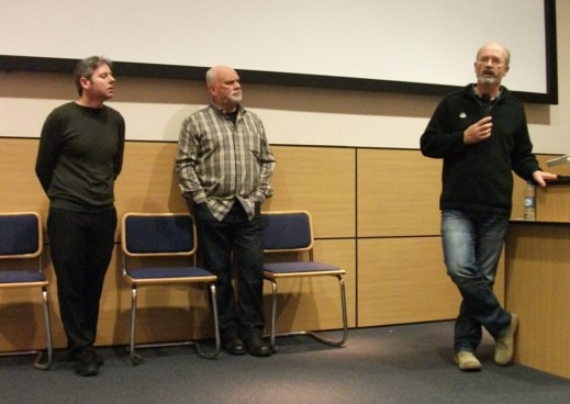 Dundee Comics Day 2011 - The Commando team: deputy editor Scott Montgomery, former editor George Low and editor Calum Laird