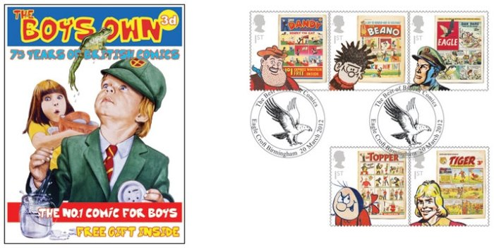 Royal Mail Comic Collection 2012 - Boys Own