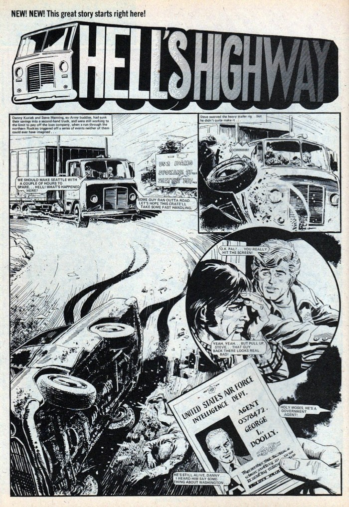 """Hell's Highway"", from Action - art by Mike White"