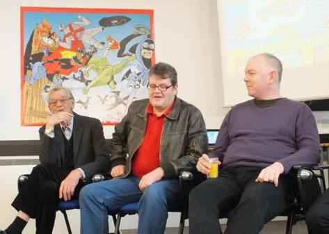 Artist David Sutherland, Digital Dandy editor Craig Ferguson, writer Dan McGachey