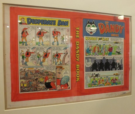 Two pages of Desperate Dan by Dudley D Watkins