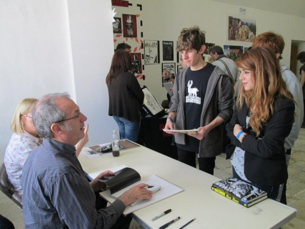Dave Gibbons meets Maltese comic fans. Photo courtesy Malta Comic Con